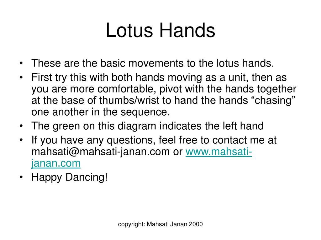 lotus hands l.