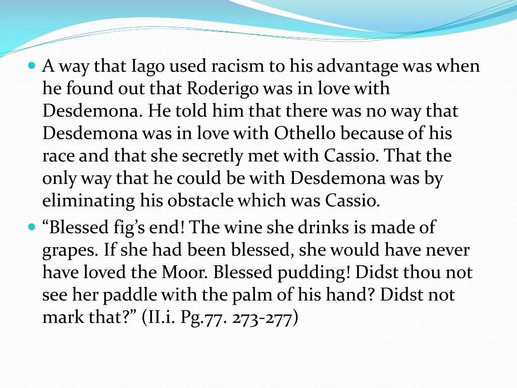 othello racism and jealousy