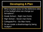 developing a plan5
