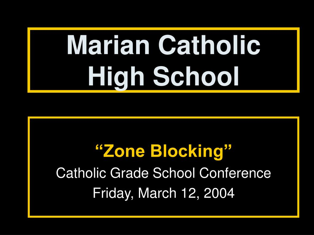 marian catholic high school l.