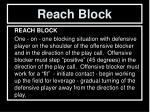 reach block