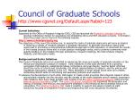 council of graduate schools http www cgsnet org default aspx tabid 123