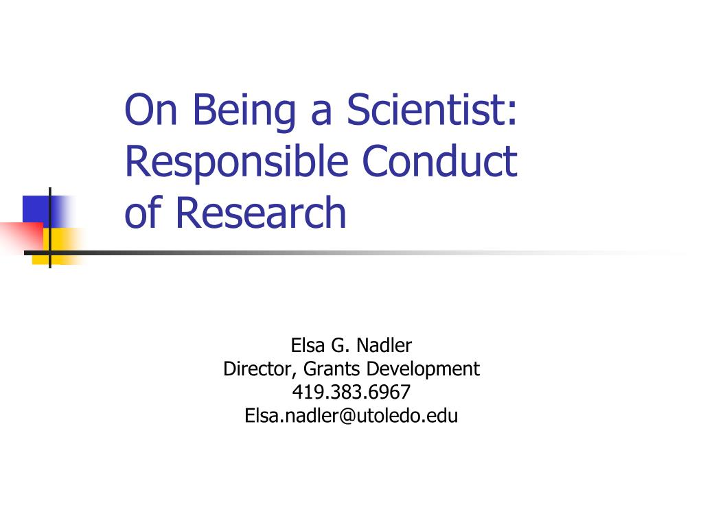 on being a scientist responsible conduct of research l.