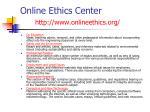 online ethics center http www onlineethics org