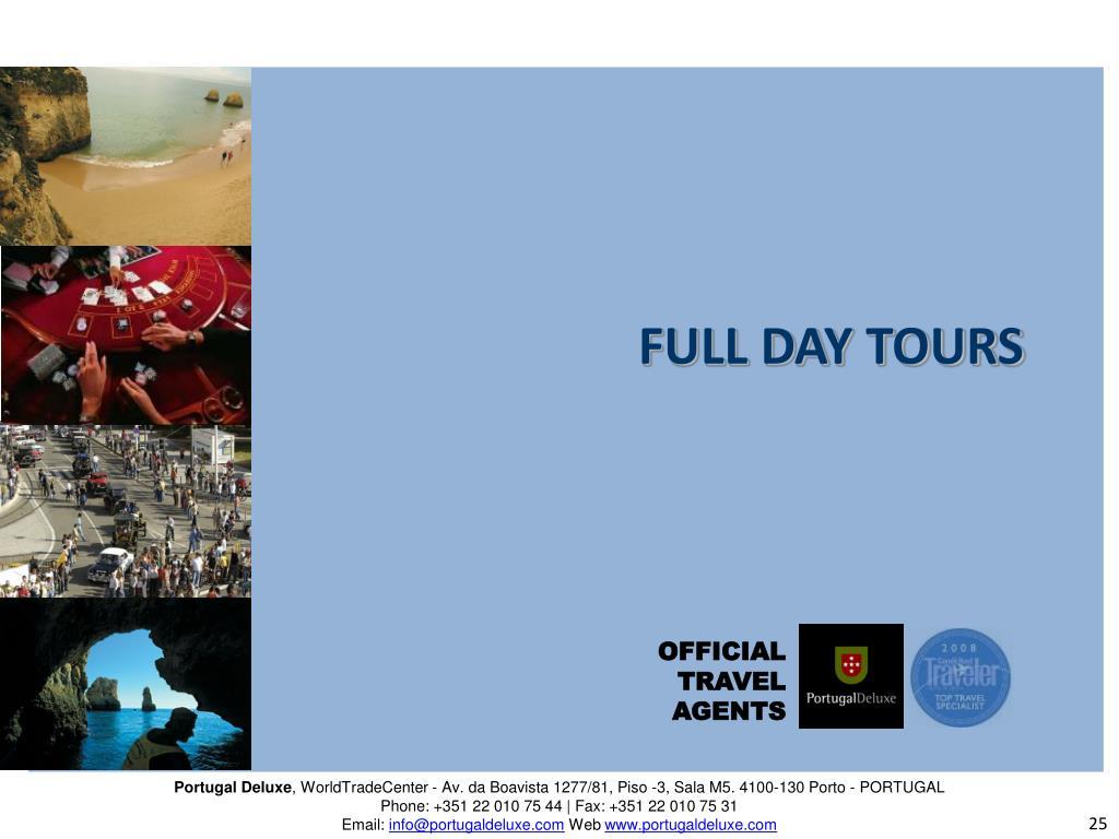 FULL DAY TOURS
