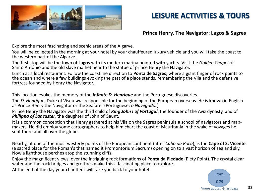 Prince Henry, The Navigator: Lagos & Sagres