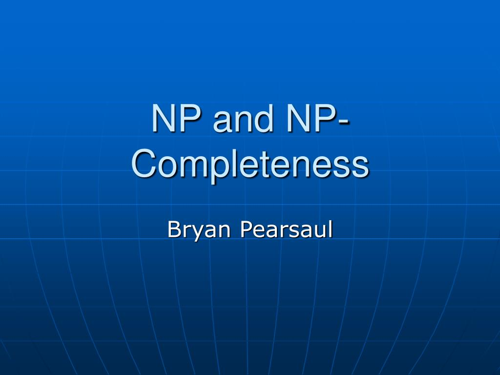 np and np completeness l.