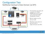 configuration two networker backup to data domain via nfs