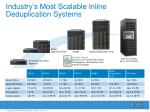 industry s most scalable inline deduplication systems