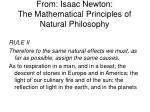 from isaac newton the mathematical principles of natural philosophy
