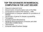 top ten advances in biomedical computing in the last decade