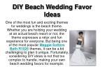 diy beach wedding favor ideas