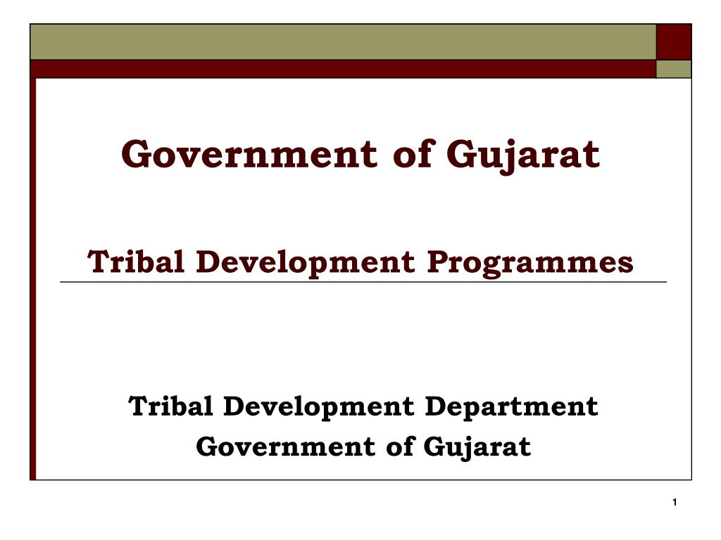 government of gujarat tribal development programmes l.