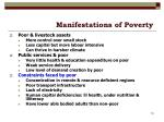 manifestations of poverty19