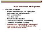 ngo promoted enterprises