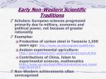 early non western scientific traditions