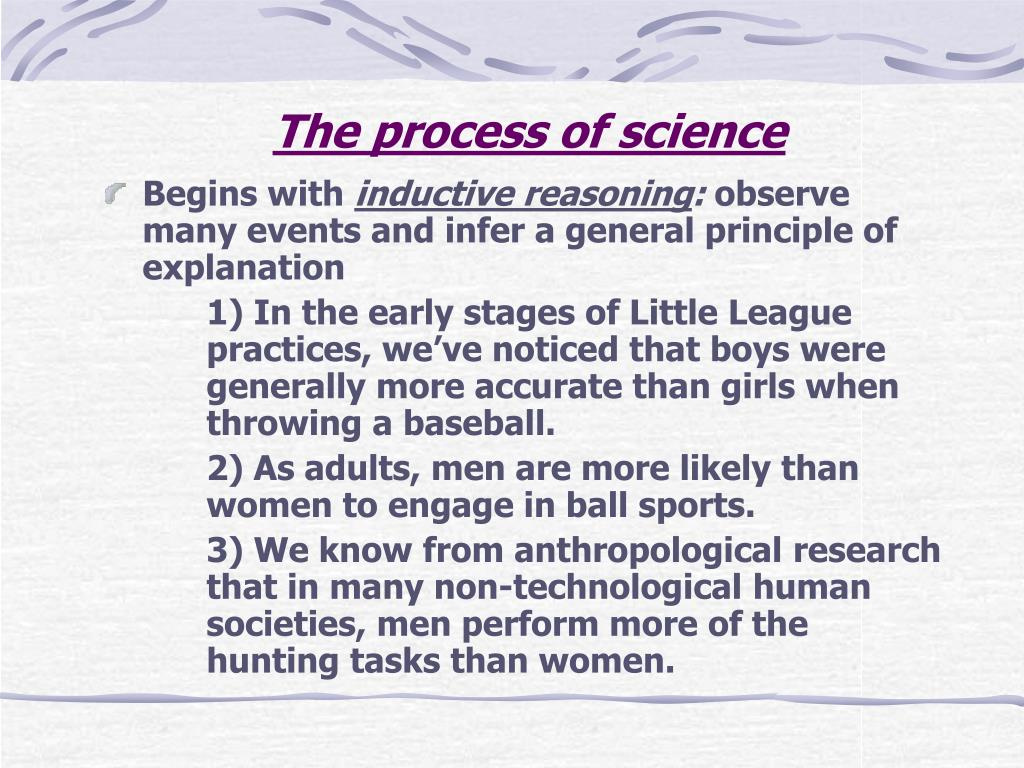 The process of science