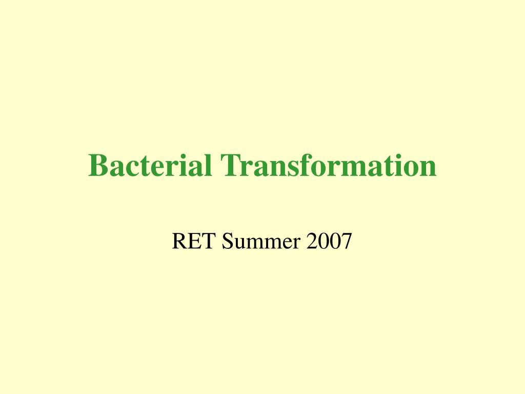 bacterial transformation l.