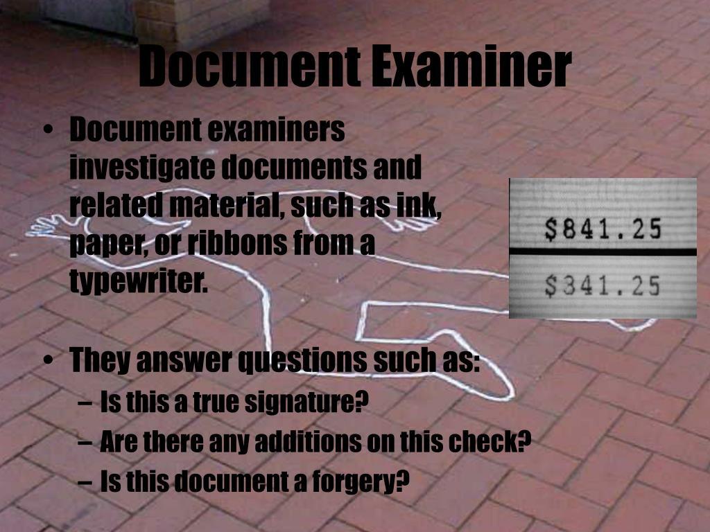 Document Examiner