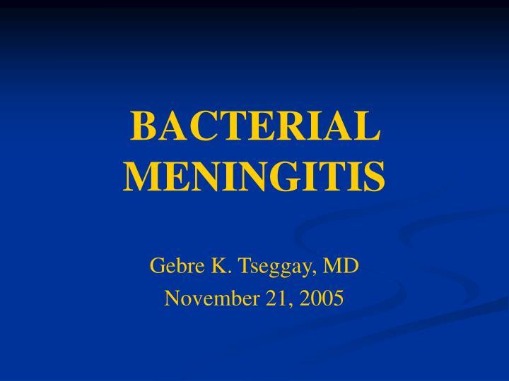 bacterial meningitis n.