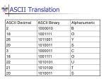 ascii translation