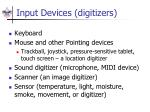 input devices digitizers
