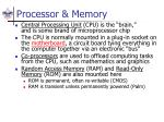 processor memory