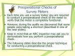 preoperational checks of survey meters