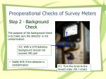 preoperational checks of survey meters10