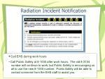 radiation incident notification
