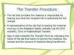 the transfer procedure