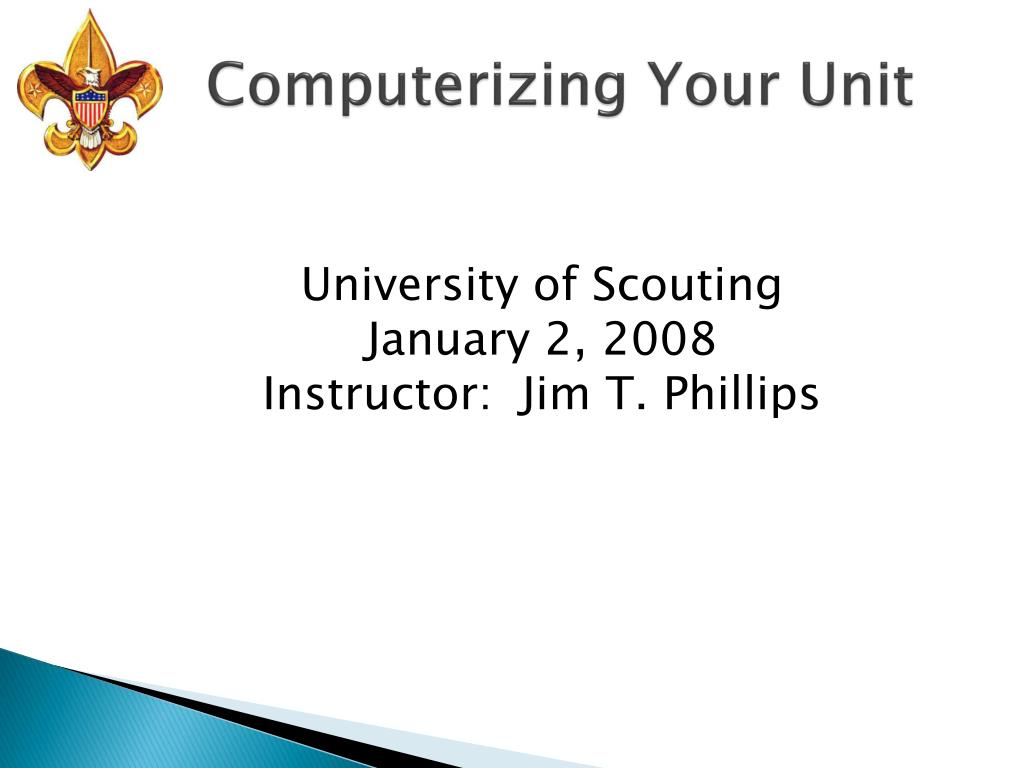 computerizing your unit l.