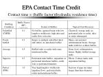 epa contact time credit