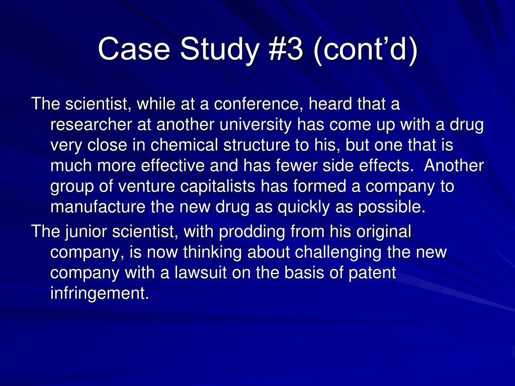 Case Study #3 (cont'd)