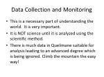 data collection and monitoring