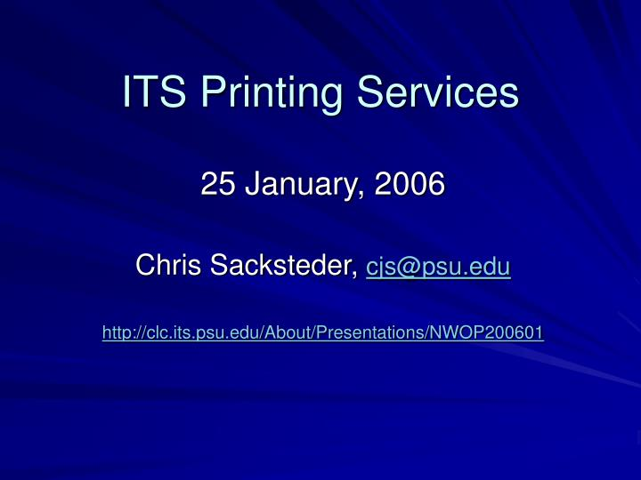 its printing services n.
