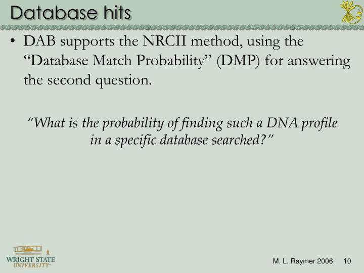 Database hits
