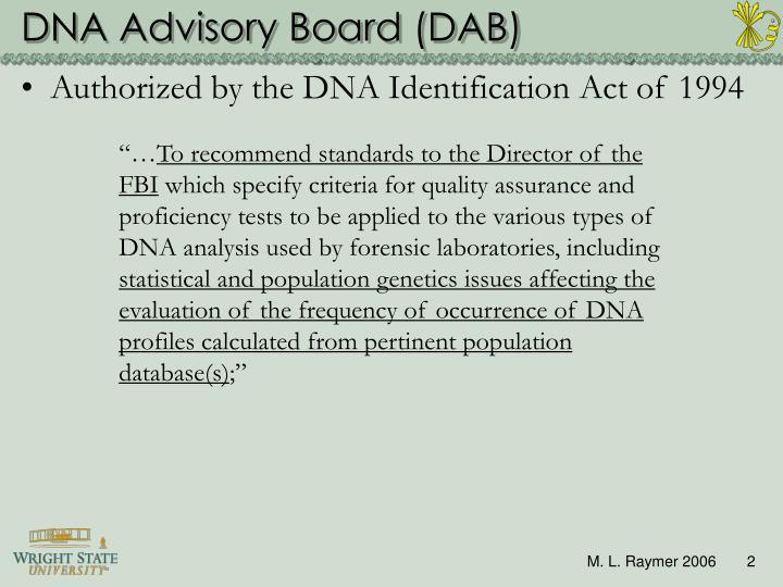 Dna advisory board dab