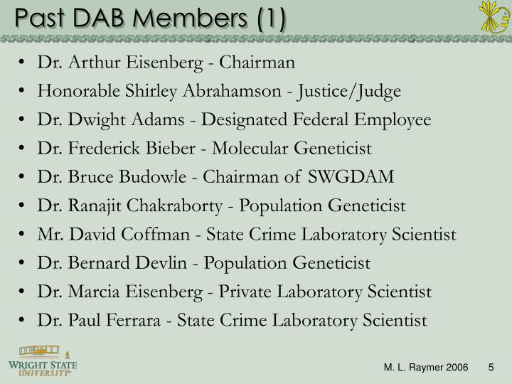 Past DAB Members (1)