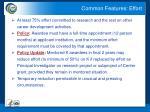 common features effort