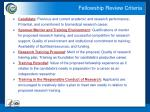 fellowship review criteria