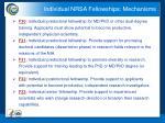 individual nrsa fellowships mechanisms