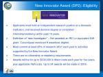 new innovator award dp2 eligibility