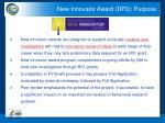 new innovator award dp2 purpose