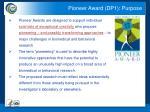 pioneer award dp1 purpose