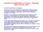 scientific accomplishments of serge l beaucage since the site visit1