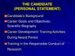 the candidate personal statement