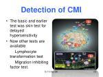 detection of cmi