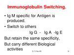 immunoglobulin switching