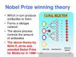 nobel prize winning theory